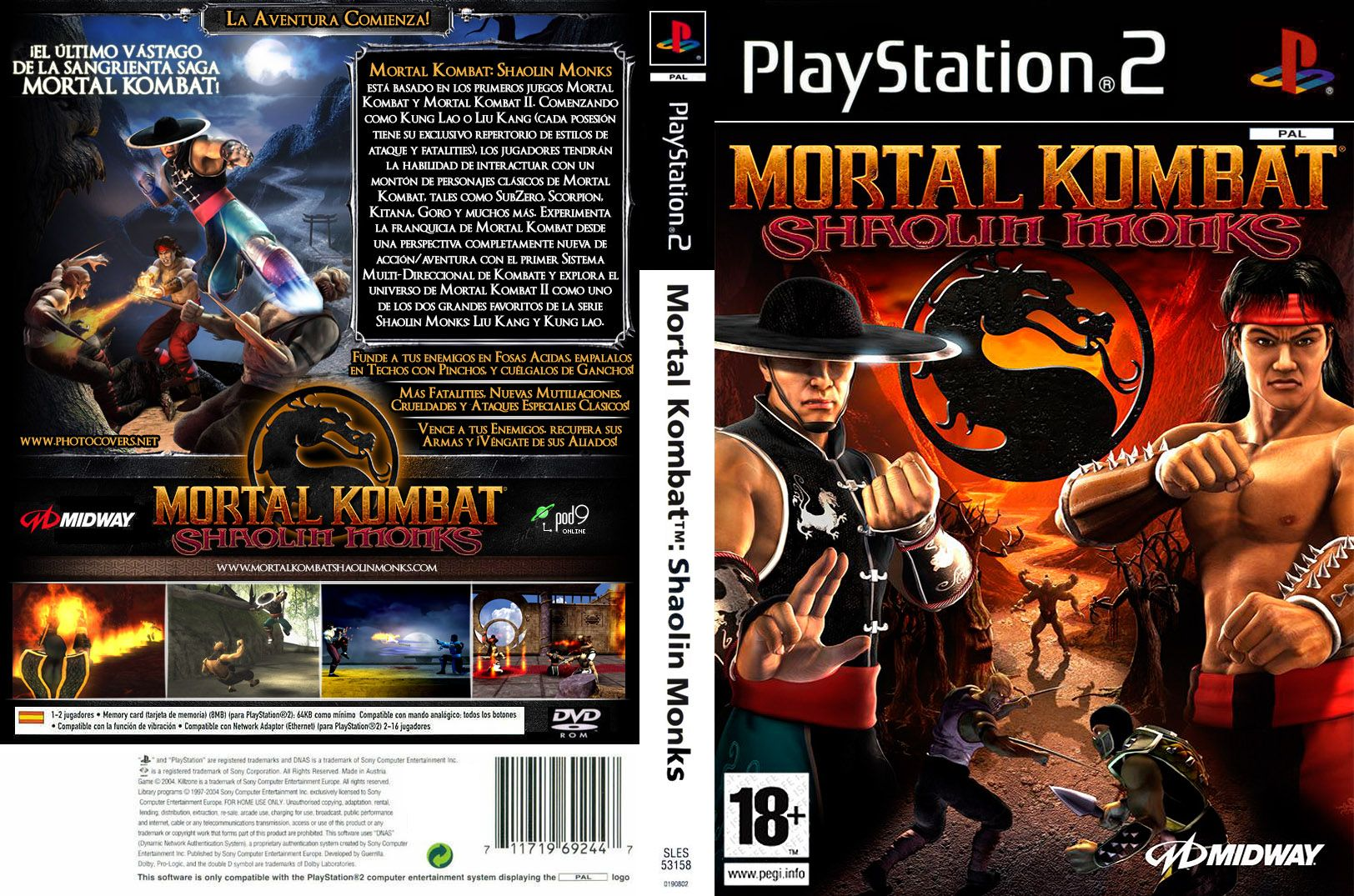 [Aporte]Mortal Kombat Shaolin Monks[PAL/ESP][MF]